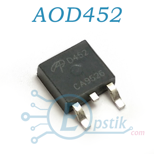 AOD452, Mosfet транзистор N channel, 25V 55A TO252