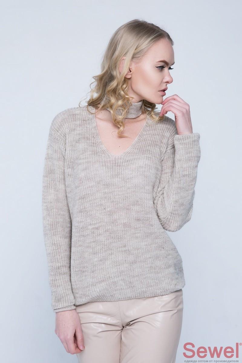 Вязаный женский осенний свитер