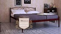"""Кованая металлическая кровать """"Верона"""" 120х200, Шагрень Медная"""