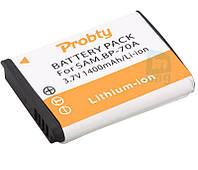 Аккумулятор для фотоаппарата Samsung BP70A, 1400 mAh.