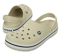 Кроксы мужские Crocs Crocband Stucco White Clogразмер M11 44 Оригинал