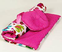 Комплект в коляску BabySoon Зайка одеяло 65 х 75 см подушка 22 х 26 см розовый (109)