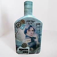 """Декор бутылки по мотивам фильма """"Sherlock"""" . оригинальный подарок мужчине"""