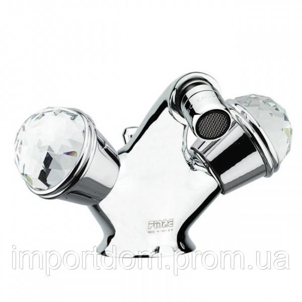 Смеситель для биде с донным клапаном Fiore XT Sky 17063201 Swarovski Хром