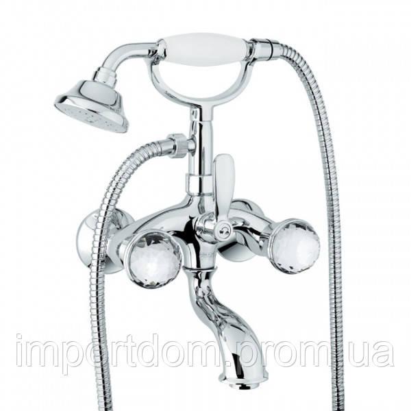 Смеситель для ванны с ручным душем Fiore XT SKY 17061001 Swarovski Хром
