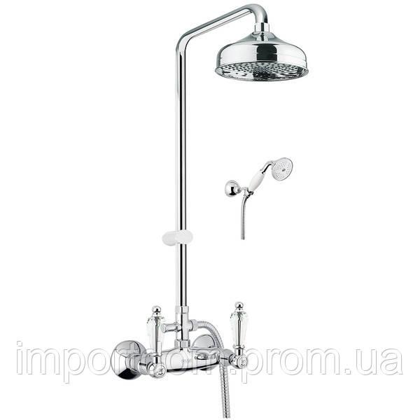 Смеситель для душа, с верхней лейкой и ручным душем Fiore Gioielli Swarovski 08061491