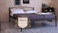"""Кованая металлическая кровать """"Верона"""" 160х190, Шагрень серая"""