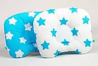 Подушка ортопедическая для новорожденных BabySoon Лазурные звездочки 22 х 26 см (164)