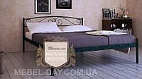 """Кованая металлическая кровать """"Верона"""" 120х200, Шагрень зеленая"""