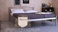 """Кованая металлическая кровать """"Верона"""" 140х200, Металлик серый"""