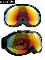 Маска горнолыжная/лыжные очки Nice Face 050: черный цвет