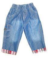 Детские легкие джинсовые бриджи на мальчика