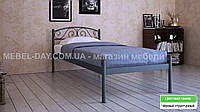 """Кованая металлическая кровать """"Верона"""" 90х200, Черный структурный"""