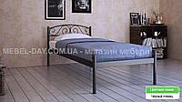 """Кованая металлическая кровать """"Верона"""" 80х200, Черный глянец"""