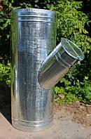 Трійник з оцинкованої сталі Ф400*200 із заслонкою, фото 1