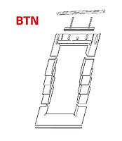 Оклад для Roto Designo BTN 54*118 (под плоскую кровлю)