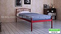 """Кованая металлическая кровать """"Верона"""" 90х190, Красный лак"""