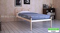 """Кованая металлическая кровать """"Верона"""" 80х190, Бежевый"""