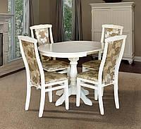 Стол обеденный Чумак 2 слоновая кость, белый, (800(+300)*800 (раскладной), фото 1