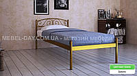 """Кованая металлическая кровать """"Верона"""" 90х190, Золотой"""