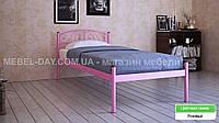 """Кованая металлическая кровать """"Верона"""" 80х200, Розовый"""