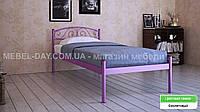"""Кованая металлическая кровать """"Верона"""" 80х190, Фиолетовый"""