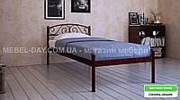 """Кованая металлическая кровать """"Верона"""" 90х200, Шагрень Медная"""