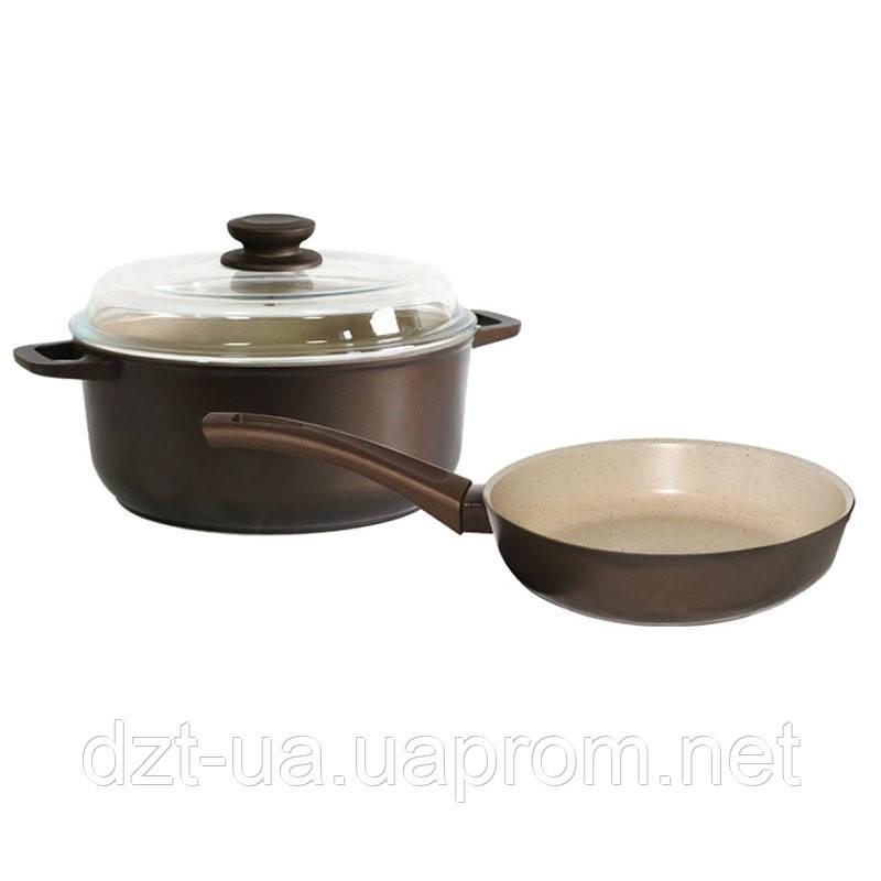 """Набор посуды с антипригарным покрытием """" Мокко"""""""