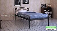 """Кованая металлическая кровать """"Верона"""" 80х190, Шагрень серая"""