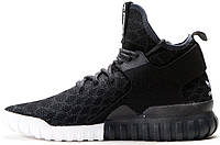 Мужские кроссовки Adidas Tubular X Primeknit Snake Core Black, адидас тубулар