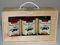 Оливки и маслины.Подарочная упаковка 3шт.