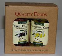 Оливки и маслины.Подарочная картонная упаковка.2шт.