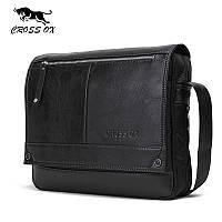 Портфель сумка мужской для ноутбука CROSS OX (черный)