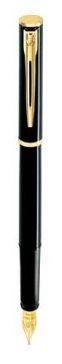 Фирменная ручка перьевая Waterman Apostrophe Black GT FP M 13 301 чёрный
