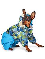Костюм для собак Pet Fashion ВИНТАЖ L, длина спины 38-43 см, обхват груди 47-58 см (красн,син,зелен)