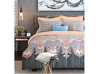 Сатиновый комплект постельного белья двуспальный евро Arya Carmelo AR28