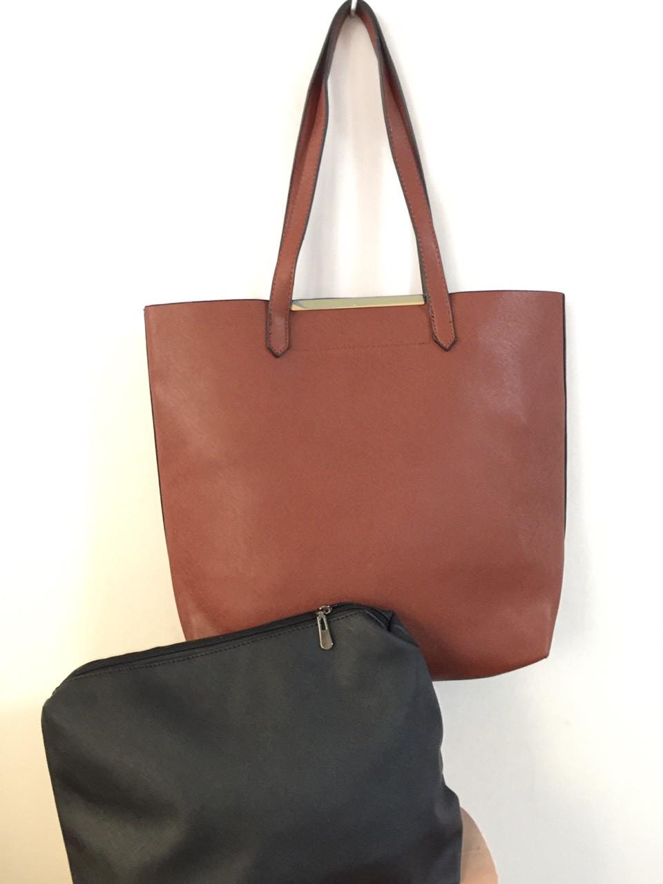 Женская сумка 2 в 1 (сумка + косметичка) МИКС
