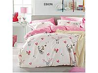 Сатиновый комплект постельного белья двуспальный евро Arya Ebion AR28