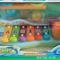 Ксилофон с молотком для малышей в коробке 27*18*14 см