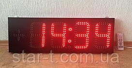 Часы термометр светодиодные красные с отображением даты и месяца. Супер яркость 4500мКд!