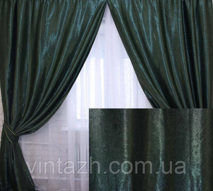 Комплект штор для спальні з цупкої тканини