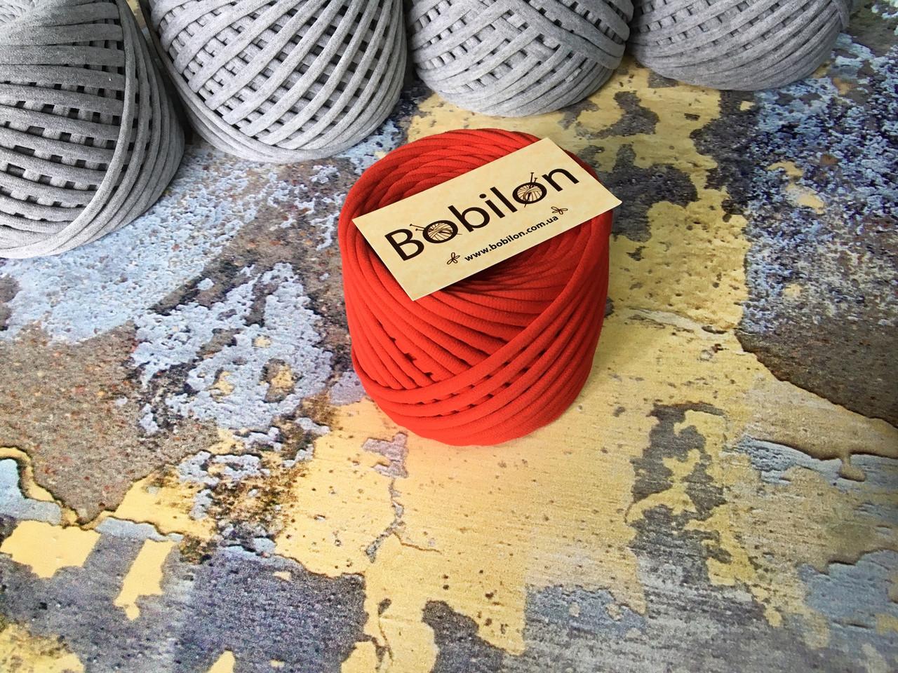 Пряжа трикотажна Bobilon Medium (7-9мм). Червоний мак 50м.