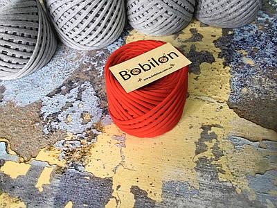 Трикотажная пряжа Bobilon Medium (7-9мм). Красный мак 50м.