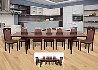 Стол обеденный раскладной Модерн 3 (темный орех)
