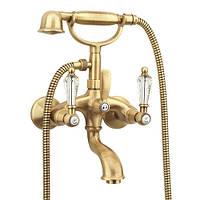 Смеситель для ванны с ручным душем Fiore Gioielli 08O610O1 Swarovski Бронза