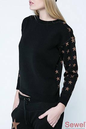 Модный женский вязаный джемпер, фото 2