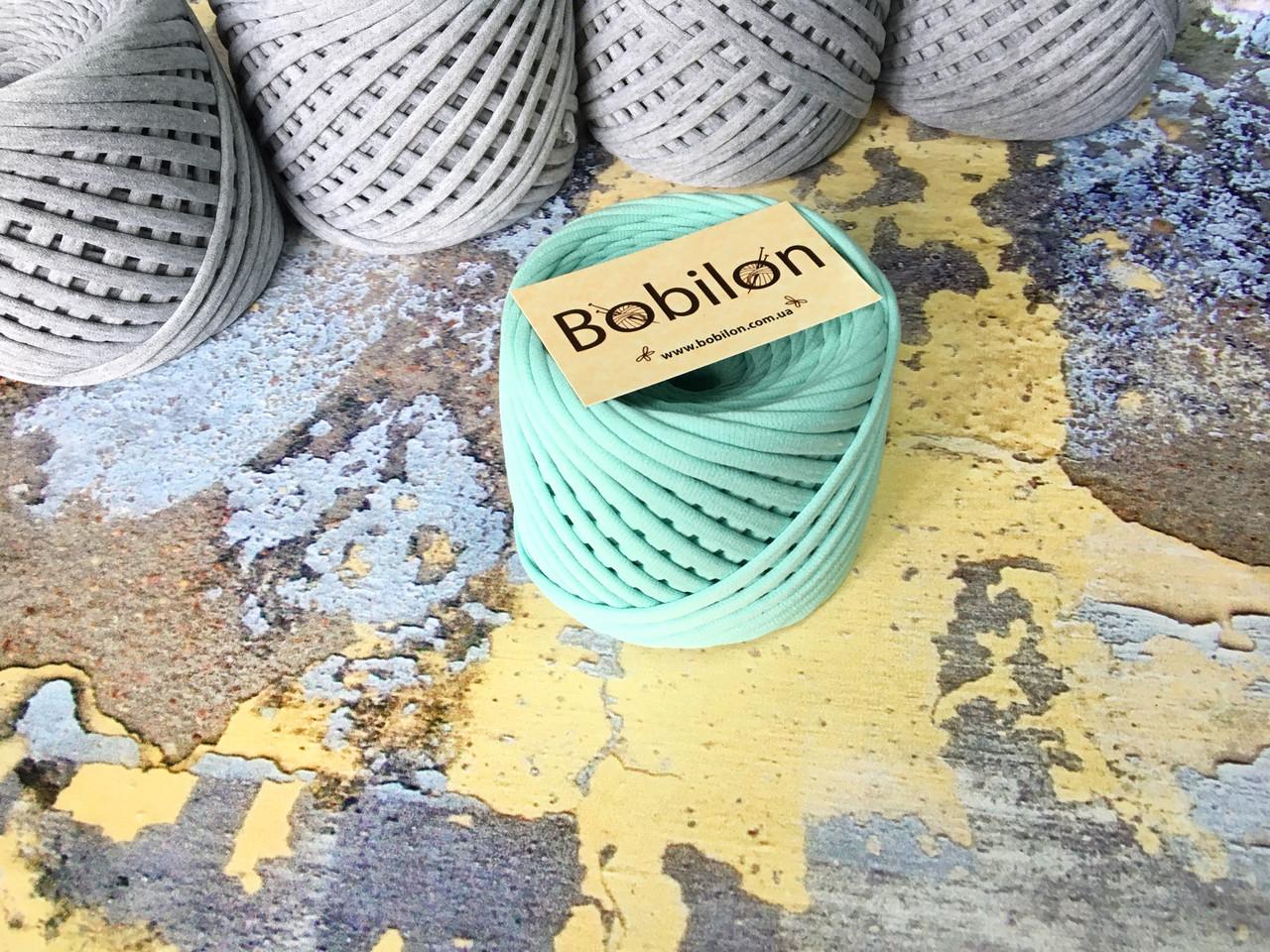 Трикотажная пряжа Bobilon Medium (7-9мм). Ментол 50м.