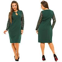 ЖІноче батальне плаття з гіпюровими рукавами.Р-ри 50-56 4c76a1efab563