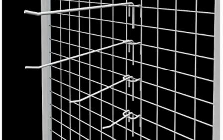 Білий гачок на сітку 30 см, фото 2