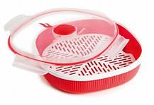Пластиковый контейнер для приготовления еды на пару, 2 л, фото 3